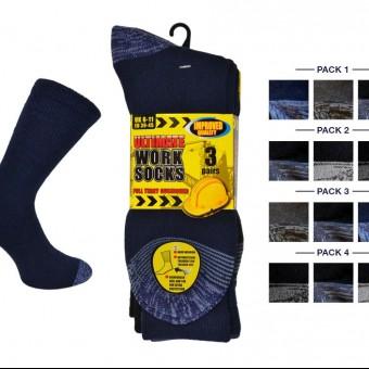 Men 3pk Ultimate Work Sock