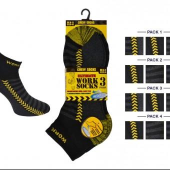 Ultimate Work Men 3Pk Crew Socks