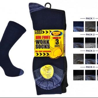 Mens 3pk Big Foot Erbro™ Work Sock