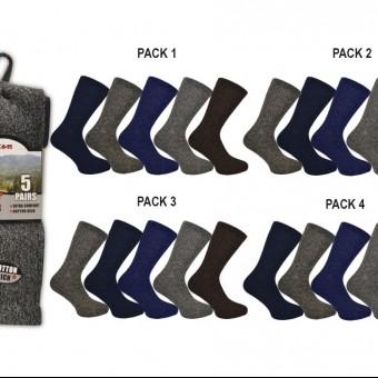 Men 5pk Boot Socks Melange Assorted